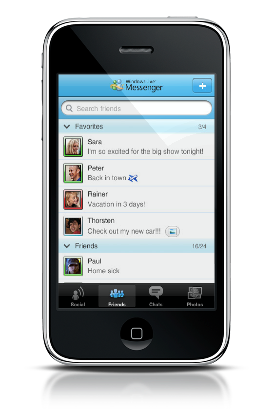 Microsoft Releases Windows Live Messenger for iPhone